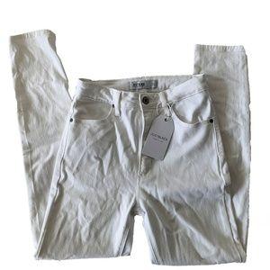 Just Black Optic White Highrise Skinny Jeans